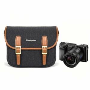 chi tiết túi máy ảnh Herringbone Maniere Small