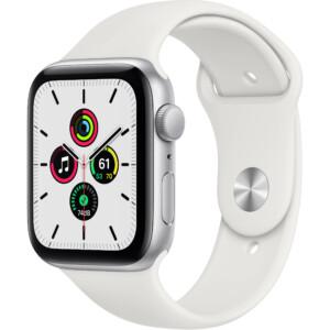 Apple Watch SE 44mm (GPS) - Viền nhôm dây cao su (Silver)