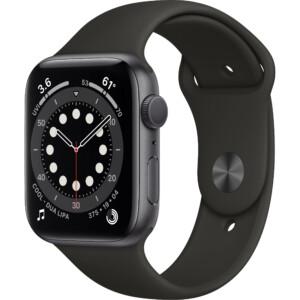 Đồng hồ Apple Watch Series 6 44mm (Black) là thế hệ đồng hồ thông minh thứ 6 đến từ Apple. Đây là phiên bản được nâng cấp với vi xử lý Apple S6 mạnh mẽ cùng các tính năng theo dõi sức khỏe vượt trội.