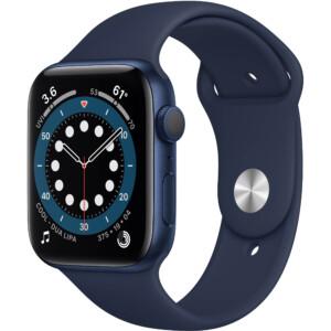 Đồng hồ Apple Watch Series 6 44mm (Blue) là thế hệ đồng hồ thông minh thứ 6 đến từ Apple. Đây là phiên bản được nâng cấp với vi xử lý Apple S6 mạnh mẽ cùng các tính năng theo dõi sức khỏe vượt trội.