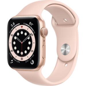 Đồng hồ Apple Watch Series 6 44mm (Gold) là thế hệ đồng hồ thông minh thứ 6 đến từ Apple. Đây là phiên bản được nâng cấp với vi xử lý Apple S6 mạnh mẽ cùng các tính năng theo dõi sức khỏe vượt trội.